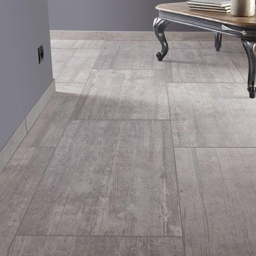 Carrelage sol et mur gris clair effet béton Industry l.45 x L.90 cm ...