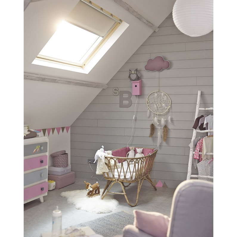 store fen tre de toit occultant beige velux dkl s06 leroy merlin. Black Bedroom Furniture Sets. Home Design Ideas