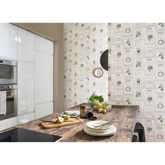 papier peint cadre multicolore intiss cuisine et bain leroy merlin. Black Bedroom Furniture Sets. Home Design Ideas