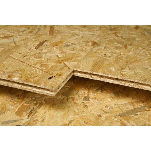 Dalle de plancher osb 4 naturel mm x x for Pannelli osb leroy merlin