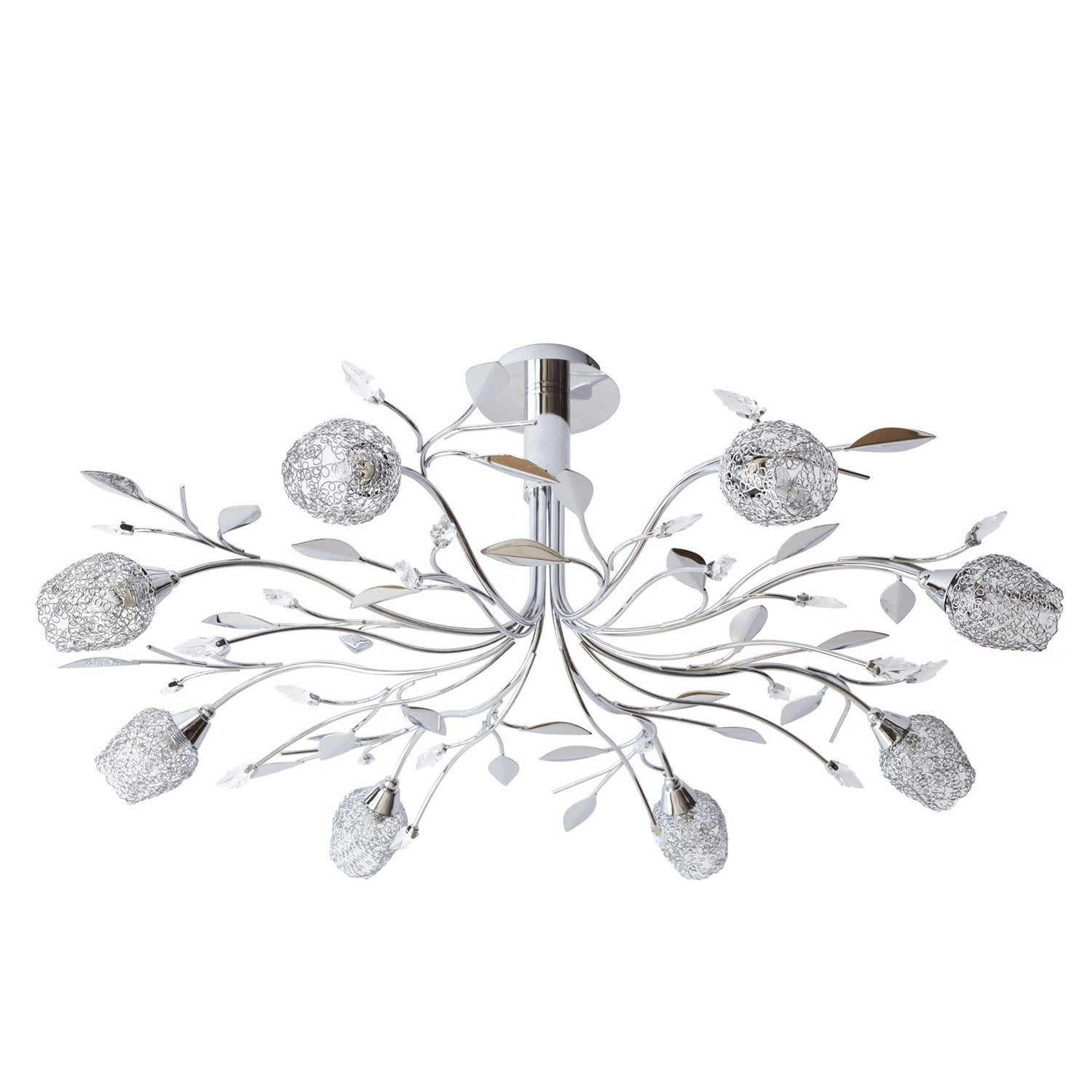Suspension, g9 design Adriana métal chrome 8 x sans ampoule W SEYNAVE