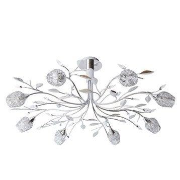 Suspension, g9 design Adriana métal chrome 8 x sans ampoule W SEYNAVE