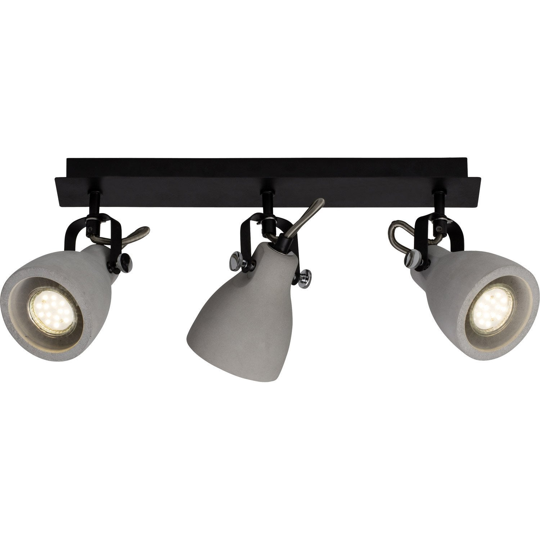 rampe 3 spots industriel thanos 3 xgu10 gris brilliant. Black Bedroom Furniture Sets. Home Design Ideas