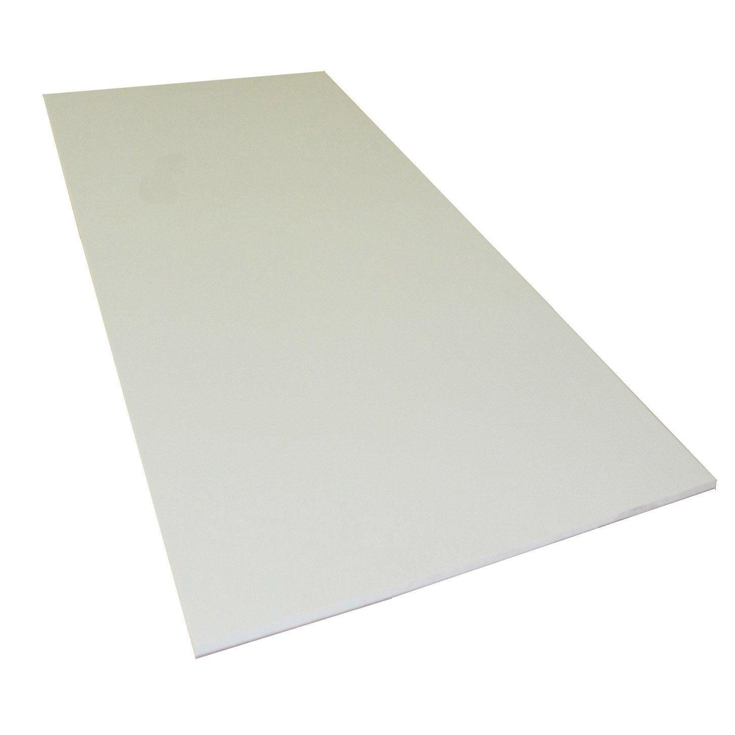 plaque pvc expans pvc blanc lisse x cm ep 5. Black Bedroom Furniture Sets. Home Design Ideas