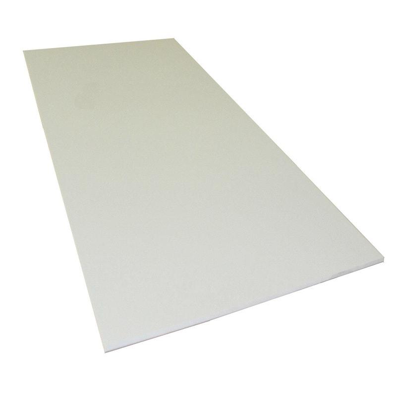 Plaque Pvc Expansé Pvc Blanc Lisse L200 X L100 Cm Ep5 Mm