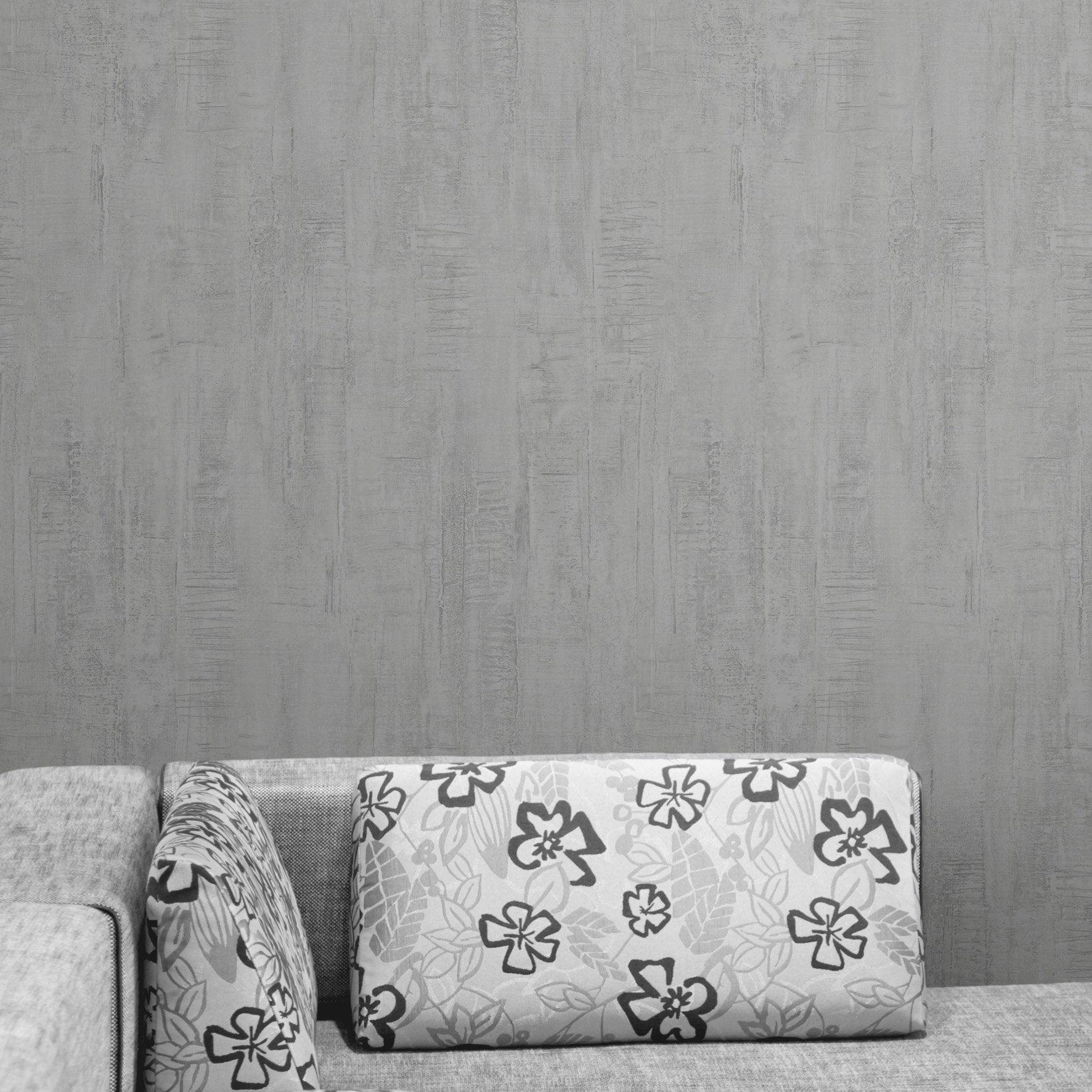 Papier peint papier Roma gris