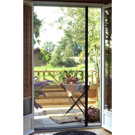Moustiquaire pour porte fen tre enroulement lat ral for Rideau de porte d entree exterieure