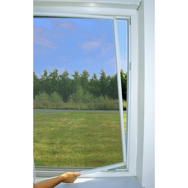 Moustiquaire Pour Fenêtre Cadre Fixe Moustikit H100 X L100 Cm