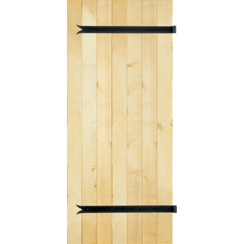 Volet Battant Sapin 2 Vantaux Tableau H 215 X L 120 Cm