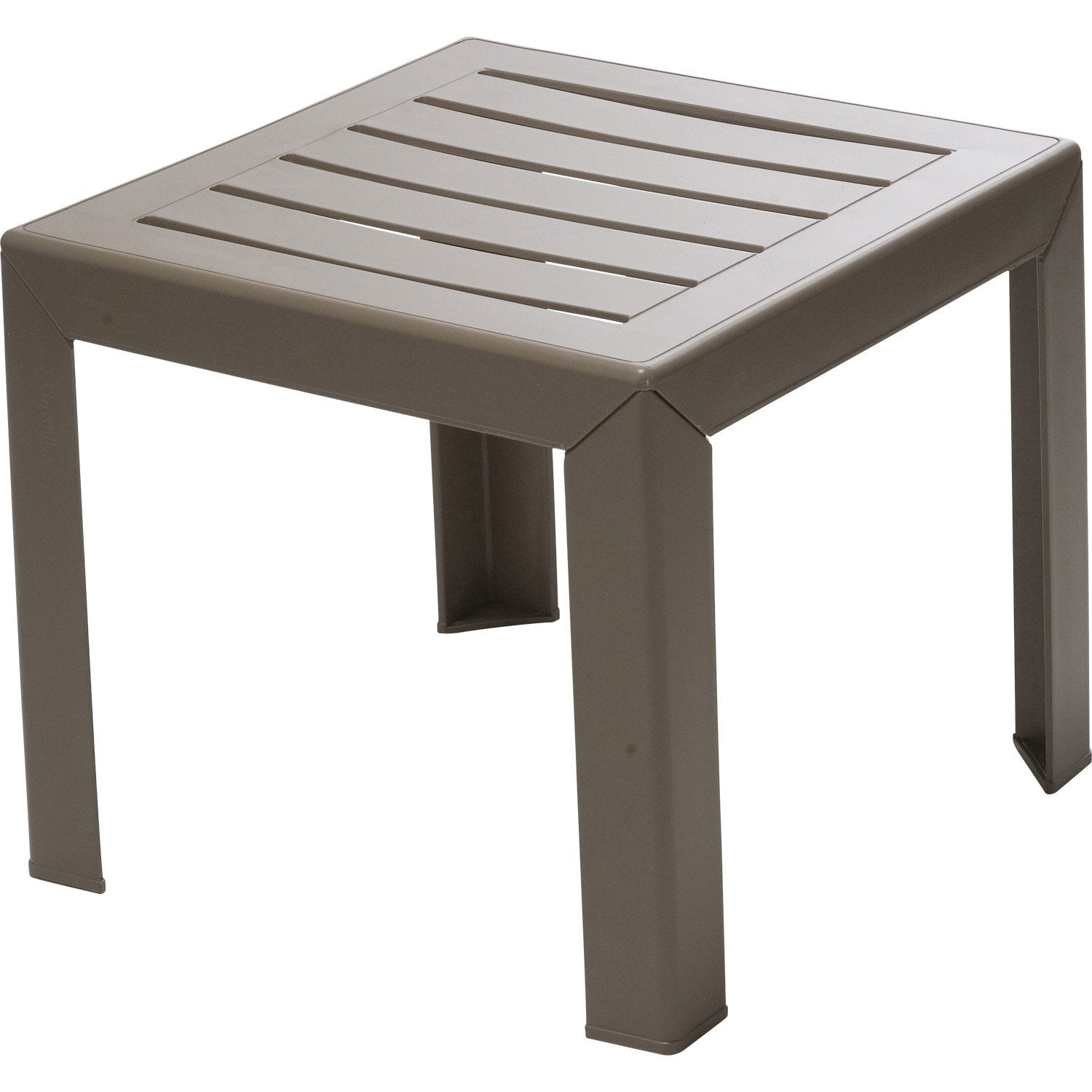 Table basse GROSFILLEX Miami carrée taupe 2 personnes ...