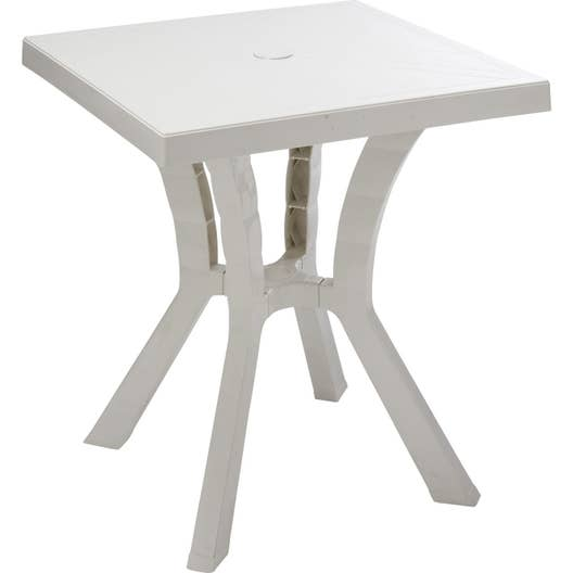 table de jardin de repas rigoletto carr e blanc 2 personnes leroy merlin. Black Bedroom Furniture Sets. Home Design Ideas