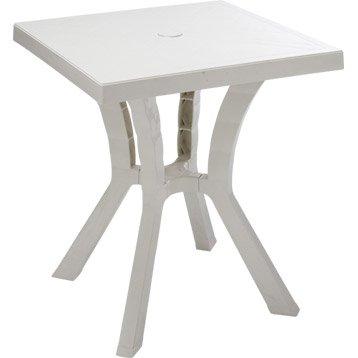 Table de jardin Rigoletto carrée blanc 2 personnes