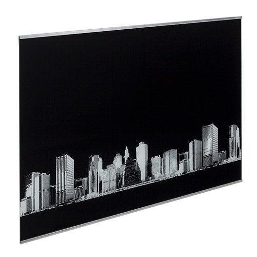 fond de hotte verre d cor new york cm x cm leroy merlin. Black Bedroom Furniture Sets. Home Design Ideas