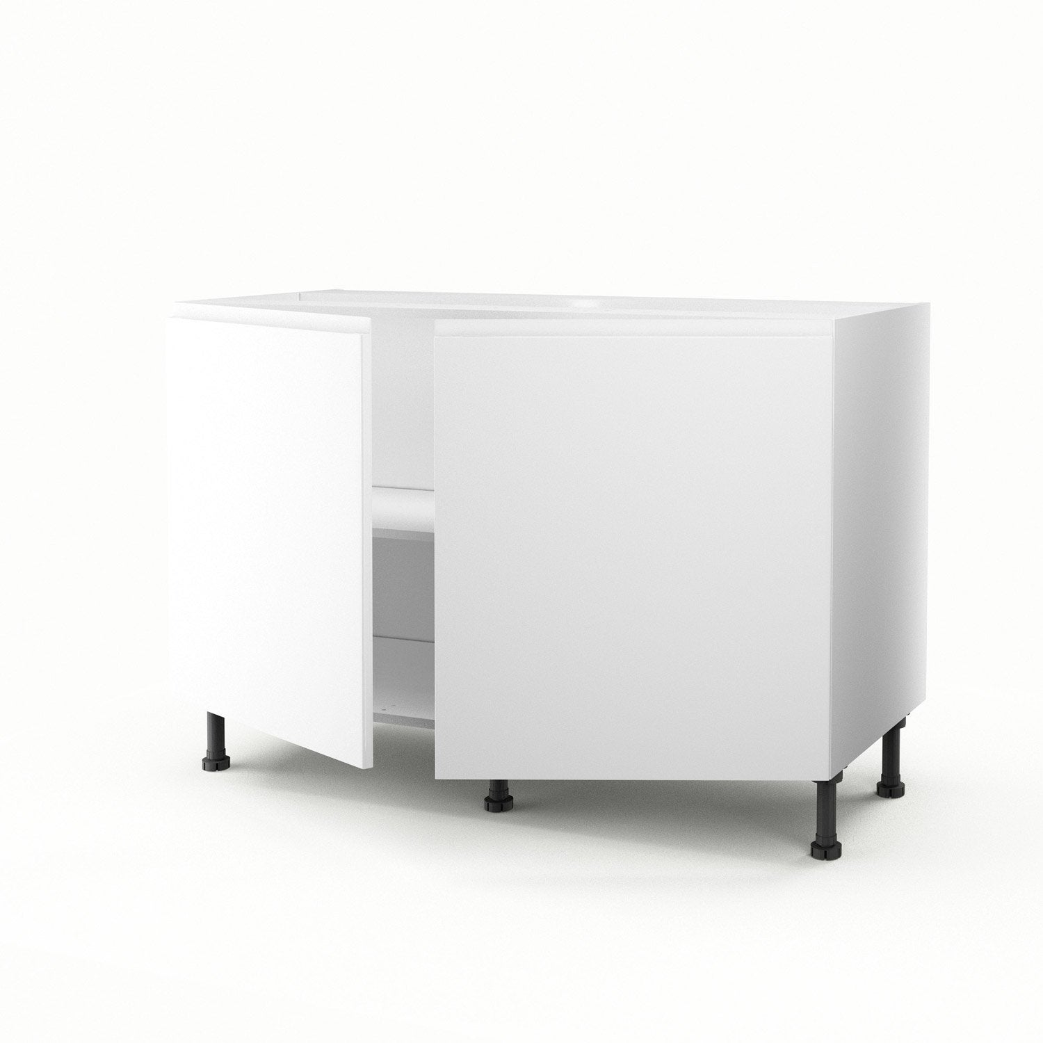 meuble de cuisine sous vier blanc 2 portes graphic x x cm leroy merlin. Black Bedroom Furniture Sets. Home Design Ideas