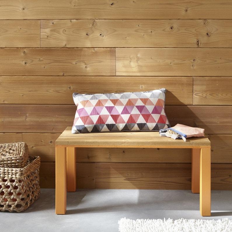 un petit banc assorti aux lambris leroy merlin. Black Bedroom Furniture Sets. Home Design Ideas