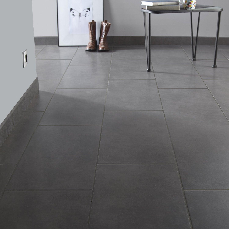 carrelage sol et mur anthracite effet b ton elbe x l. Black Bedroom Furniture Sets. Home Design Ideas
