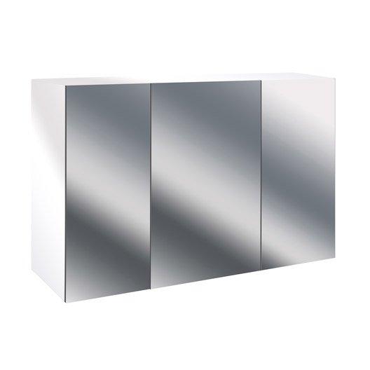 Armoire de toilette l.90 cm, blanc, Modulo | Leroy Merlin