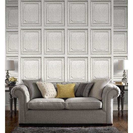 papier peint intiss moulure blanc leroy merlin. Black Bedroom Furniture Sets. Home Design Ideas