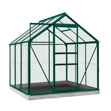 Serre de jardin en verre trempé Rainbow vert, 3.8 m²