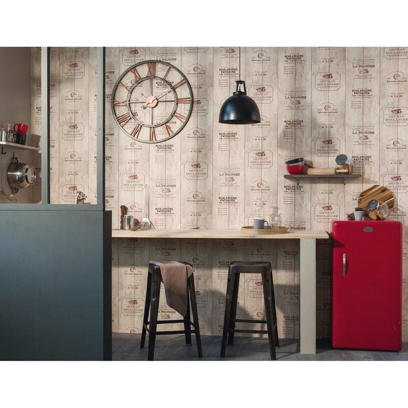 Papier Peint Boulangerie Beige Rouge Papier Cuisine Et Bain Leroy