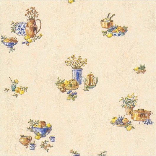 Papier Peint Pot De Fruits Beige Papier Cuisine Et Bain