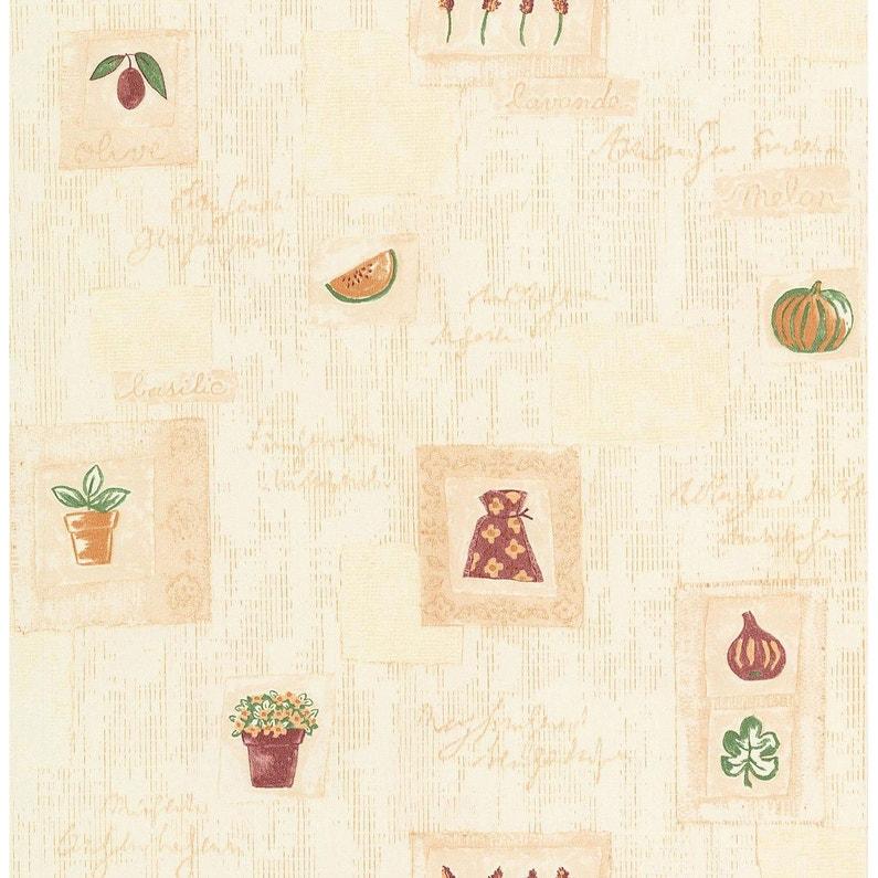 Papier peint lavande beige papier cuisine et bain | Leroy Merlin