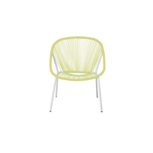 fauteuil de jardin en r sine samba jaune leroy merlin. Black Bedroom Furniture Sets. Home Design Ideas