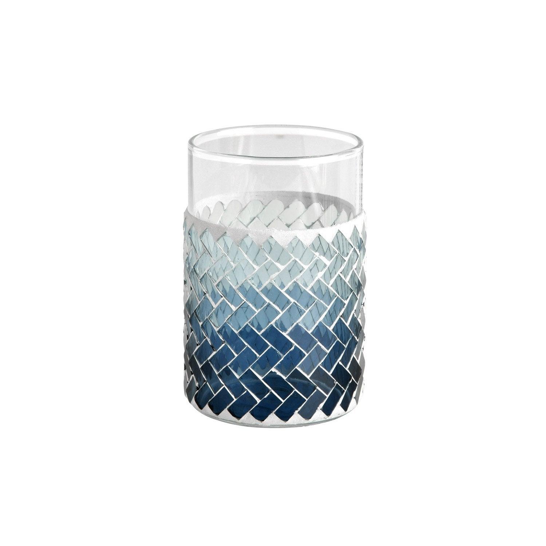 Gobelet verre Zigzag, bleu
