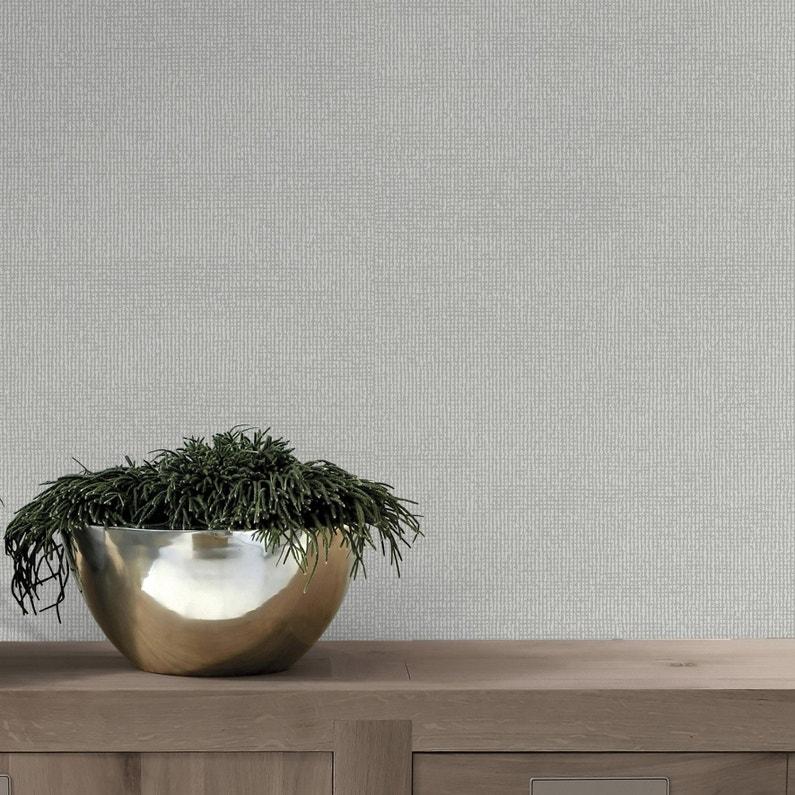 Papier peint papier Dulce paillette gris foncé | Leroy Merlin