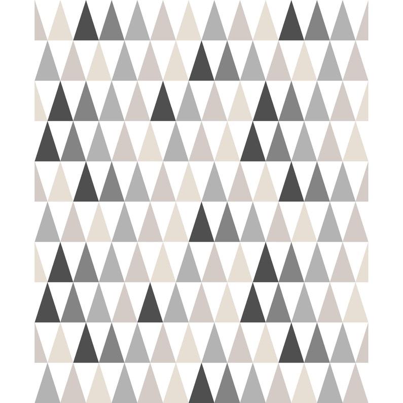 Papier Peint Intisse Triangle Beige Et Noir Leroy Merlin