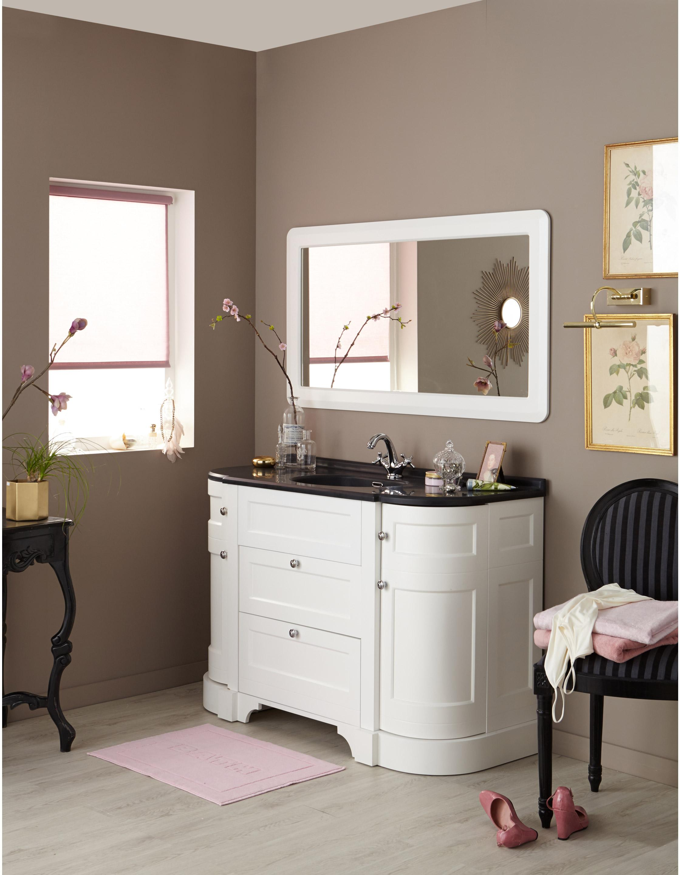 Meuble de salle de bains plus de 120, blanc, Charleston