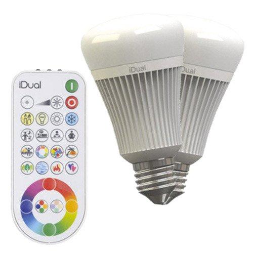 2 Ampoules Led à Changement De Couleurs Télécommande 11 5w E27 Idual Jedi