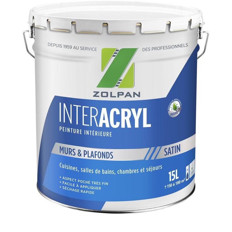 Peinture Blanc Mur Et Plafond Inter Acrylique Zolpan Satin 15 L