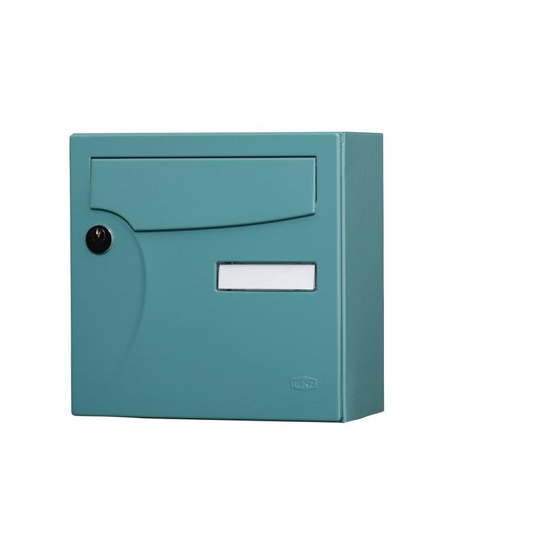 Boîte Aux Lettres Compacte 1 Porte Extérieur Renz Animation Acier Brillant