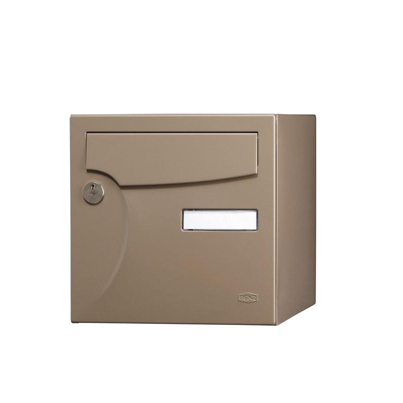 Boîte Aux Lettres Normalisée La Poste 1 Porte Ext Renz Animation Acier Brillant