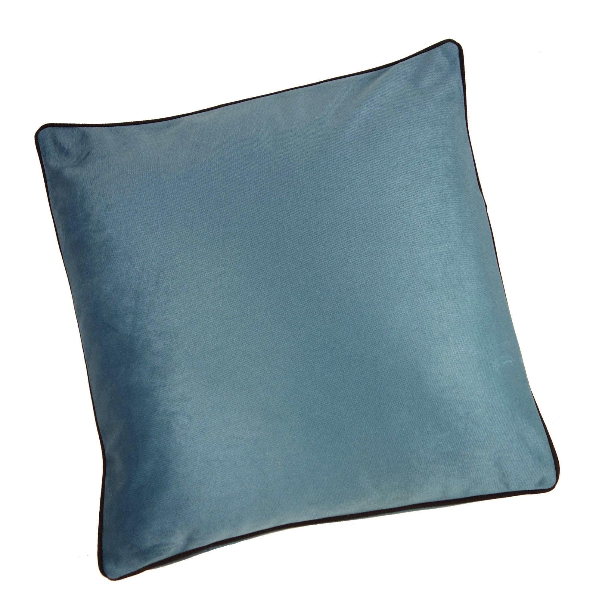 Coussin Bristol chic, bleu aqua l.60 x H.60 cm