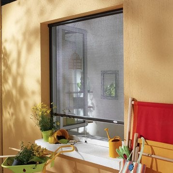 Moustiquaire pour fenêtre à enroulement vertical MOUSTIKIT H.160 x l.125 cm