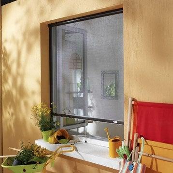 Moustiquaire pour fenêtre à enroulement vertical MOUSTIKIT H.160 x l.150 cm