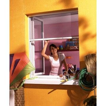 Moustiquaire pour fenêtre à enroulement vertical MOUSTIKIT H.100 x l.80 cm