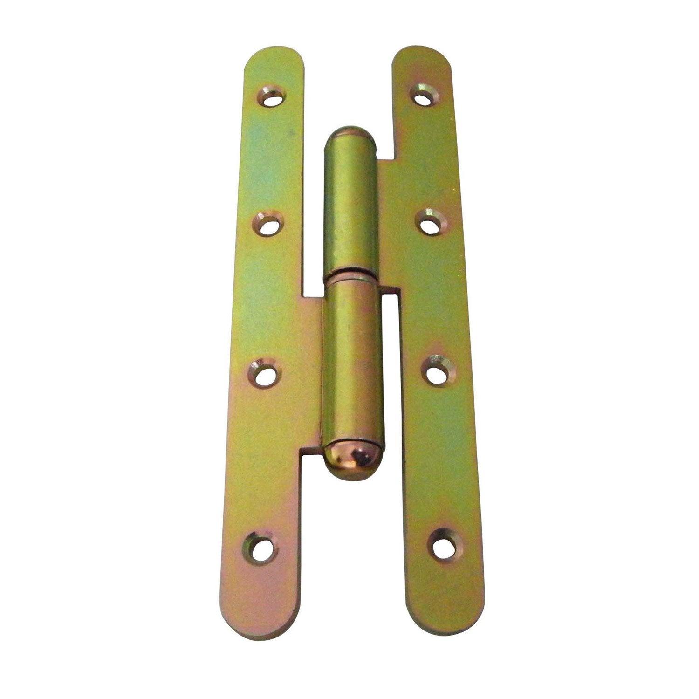 Paumelle acier pour porte x mm leroy merlin for Porte pyroplus 60