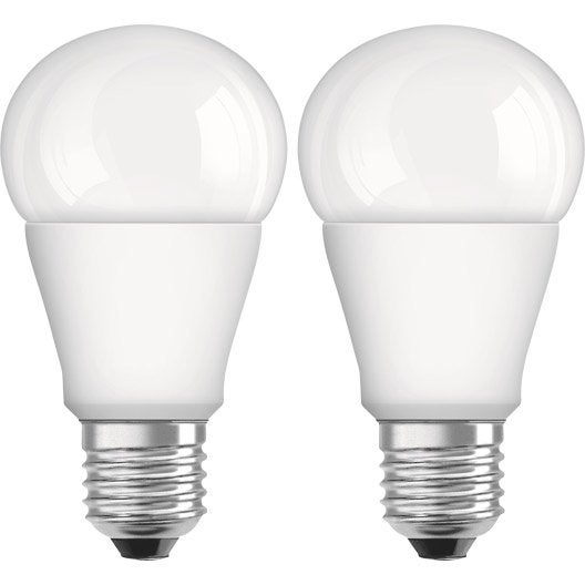lot de 2 ampoules standard led osram e27 lumi re chaude env 2700k leroy merlin. Black Bedroom Furniture Sets. Home Design Ideas