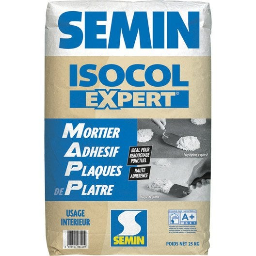 mortier adhésif isocol semin 25 kg  leroy merlin