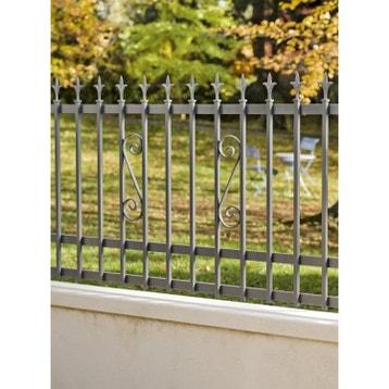 Clôture - Clôture aluminium, fer, bois, PVC au meilleur prix   Leroy ...
