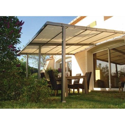 tonnelle pergola toiture de terrasse leroy merlin. Black Bedroom Furniture Sets. Home Design Ideas