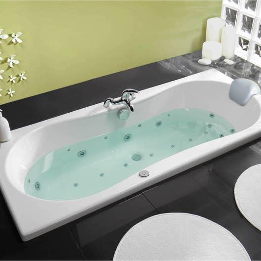 baignoire baln o rectangulaire cm allibert chromomix leroy merlin. Black Bedroom Furniture Sets. Home Design Ideas