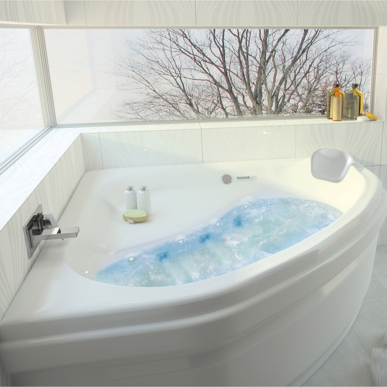 baignoire baln o avec tablier angle cm allibert chromomix leroy merlin. Black Bedroom Furniture Sets. Home Design Ideas
