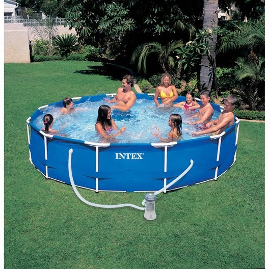 Piscine hors sol autoportante tubulaire metal frame intex for Montage piscine intex