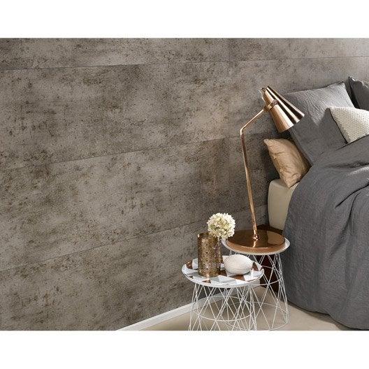 dalle murale pvc ciment gris dumaplast x cm x. Black Bedroom Furniture Sets. Home Design Ideas