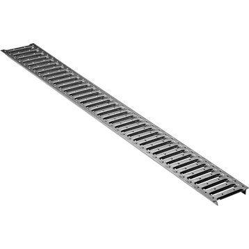 Grille passerelle acier galvanisé meaeasy / mealine pour caniveau 1 m