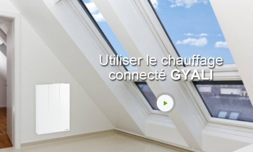 radiateur lectrique connect inertie pierre sauter gyali 2000 w leroy merlin. Black Bedroom Furniture Sets. Home Design Ideas